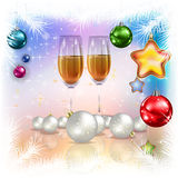 Abstract celebration greeting with christmas decorations Stock Photo