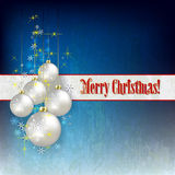 Abstract celebration greeting with Christmas decorations Stock Images