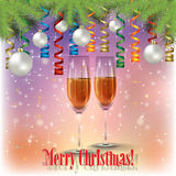 Abstract celebration greeting with christmas decorations Royalty Free Stock Photo
