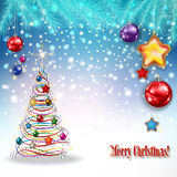 Abstract celebration greeting with Christmas decorations Royalty Free Stock Image