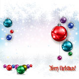 Abstract celebration greeting with Christmas decorations Stock Photos