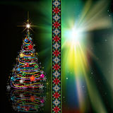 Abstract celebration greeting with Christmas tree Royalty Free Stock Image