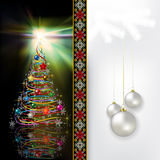 Abstract celebration greeting with Christmas tree  Stock Photo
