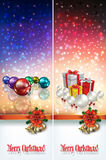 Abstract celebration greetings with Christmas illustrative eleme Stock Photography