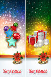 Abstract celebration greetings with Christmas illustrative eleme Stock Photos