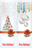 Abstract celebration greetings with Christmas illustrative eleme Royalty Free Stock Image