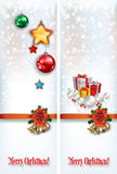 Abstract celebration greetings with Christmas illustrative eleme Stock Images
