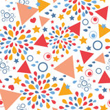 Abstract celebration seamless pattern background. Vector abstract celebration seamless pattern background with hand drawn elements royalty free illustration