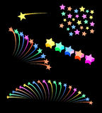 Abstract celebratory pictures with stars. Abstract celebratory pictures with color stars Stock Photos