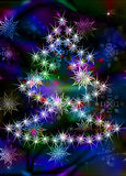 Abstract celebratory winter illustration Stock Images