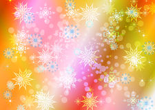 Abstract celebratory winter illustration Stock Photos