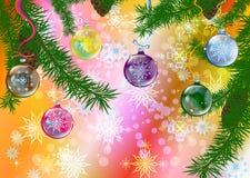 Abstract celebratory winter illustration Stock Photo