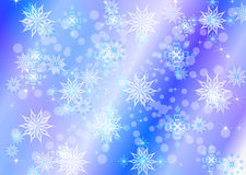 Abstract celebratory winter illustration Royalty Free Stock Images