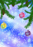 Abstract celebratory winter illustration Stock Photo