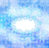 Abstract celebratory winter illustration Royalty Free Stock Photography
