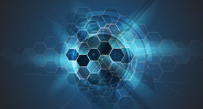 Abstract cell background. Medicine and sciense research Stock Photography