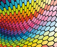 Abstract cell rainbow background Royalty Free Stock Photography