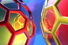 Abstract cell tehnology Stock Images