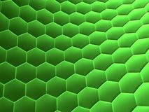 Abstract cells. 3d rendered illustration of abstract green cells Stock Photos