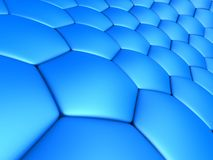 Abstract cells. 3d rendered illustration of abstract blue cells Stock Photos