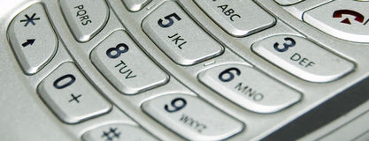 Abstract Cellular Phone. Cellular Flip Phone Keypad Abstract Stock Photography