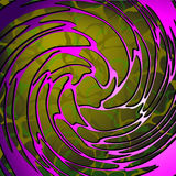 Abstract cellular spiral structure Royalty Free Stock Images