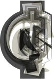 Abstract cent Symbol. Vector Illustration Royalty Free Stock Photo