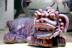 Abstract Ceramic,Chinese Style. The Chinese style ceramic sculpture royalty free stock photos