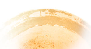 Abstract: ceramic fade -- pale orange curve of ceramic tub. Royalty Free Stock Photos