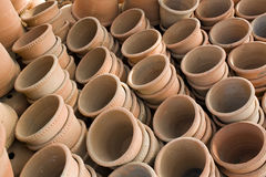 Abstract Ceramics Flowepots Stock Photos