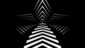Abstract CGI motion graphics and animated background with white and black stars. stock footage