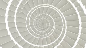 Abstract CGI motion graphics and looped animated background with white cubes in spiral arrange tunnel. Seamless loop.