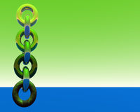 Abstract chain 1. A chain strangely floats the sky (1 stock illustration