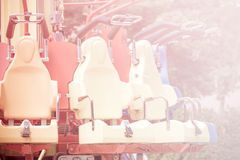 Abstract chair of player in the amusement park. Royalty Free Stock Image