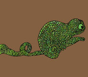 Abstract chameleon vector illustration Stock Photos