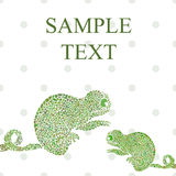 Abstract chameleon vector illustration Royalty Free Stock Image