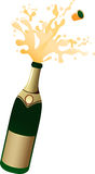 Abstract Champagne Bottle Royalty Free Stock Image