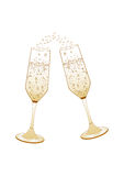 Abstract champagne glasses  illustration Royalty Free Stock Photos