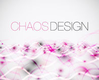 Abstract chaos lines background Stock Images