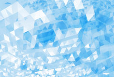 Abstract chaotic bright blue digital low poly background Stock Images