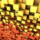 Abstract chaotic cubes background. 3d render of abstract chaotic cubes background vector illustration