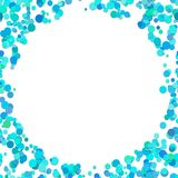 Abstract chaotic dot background - vector graphic design from light blue dots Stock Photography