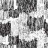 Abstract chaotic line pencil drawn line geometric seamless pattern. Abstract geometric seamless pattern. Black and white pencil drawing line texture Stylish Royalty Free Stock Photo