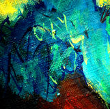 Abstract chaotic painting , illustration, background Royalty Free Stock Photos