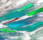 Abstract chaotic painting by oil on canvas,  illustration, backg Royalty Free Stock Images