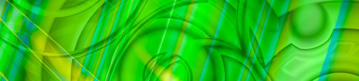 Abstract chaotic panorama banner in green stock images