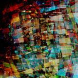 Abstract chaotic pattern with colorful curved lines Stock Photo