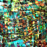 Abstract chaotic pattern with colorful translucent lines Stock Photo