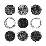 Abstract chaotic round sketch Stock Photo