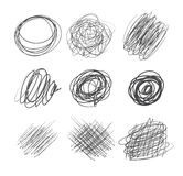 Abstract chaotic round sketch Royalty Free Stock Photo